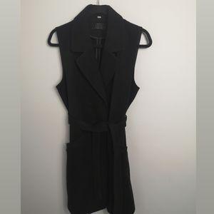 Only long black vest